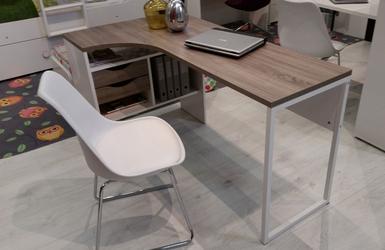 Function 118 biurko narożne białydąb trufla