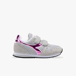 Sneakersy dziewczęce diadora simple run ps girl - szary