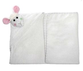 Ręcznik mały z kapturkiem - owieczka