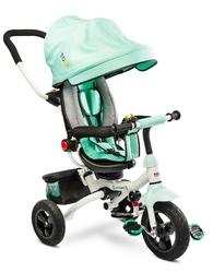 Toyz wroom turquoise rowerek trzykołowy z obracanym siedziskiem + prezent 3d