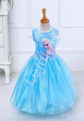 Karnawałowa sukienka dla dziewczynki frozen