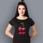 Wisienki t-shirt damski czarny xxl
