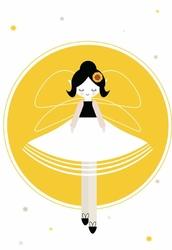 Wróżka Słonecznikowa - plakat Wymiar do wyboru: 21x29,7 cm