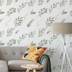 Tapeta na ścianę - soft greenery , rodzaj - tapeta flizelinowa laminowana