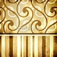 Obraz na płótnie canvas czteroczęściowy tetraptyk retro tapeta