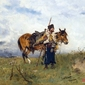 kozak na straży - józef brandt ; obraz - reprodukcja