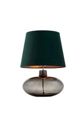 Kaspa :: lampa stołowa sawa velvet zielona chrom dymny