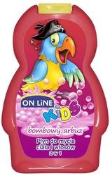 On line czereśnia i bombowy arbuz, szampon i płyn do kąpieli dla dzieci, 250ml
