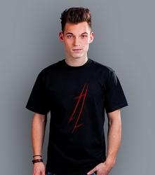 Czarna madonna t-shirt męski czarny l