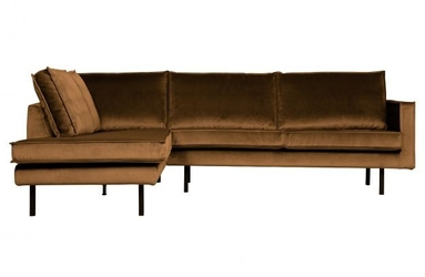 Be pure lewa sofa narożna rodeo miodowy żółty 800972-14