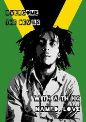 Bob Marley - Collage - plakat