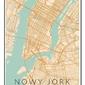 Nowy jork mapa kolorowa - plakat wymiar do wyboru: 50x70 cm
