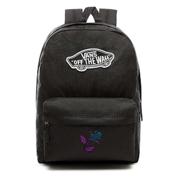 Plecak szkolny vans realm backpack custom violet rose róża - vn0a3ui6blk