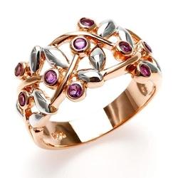 Joy; srebrny pierścionek z ametystami