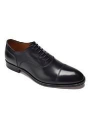 Eleganckie czarne skórzane buty męskie typu oxford 46