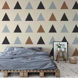 Tapeta na ścianę - triangle passion , rodzaj - tapeta flizelinowa