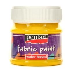 Farba do tkanin pentart 50 ml - żółty - żół