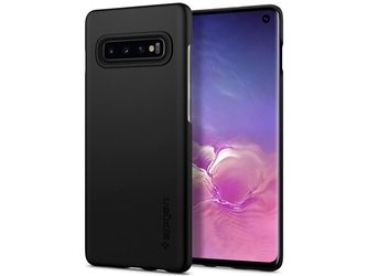 Etui spigen thin fit do samsung galaxy s10 black + folia neo flex