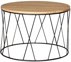 Okrągły stolik kawowy Arina dąb industrialny