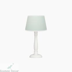 Lampka nocna roomee decor - miętowa z biała lamówką