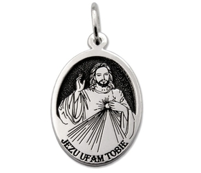 Medalik srebrny z wizerunkiem jezusa miłosiernego med-jm-01