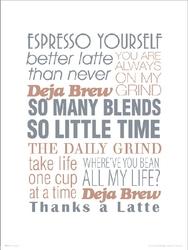Espresso yourself - plakat premium