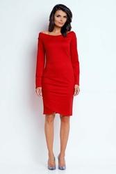 Wyjściowa sukienka z dekoltem czerwona