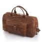 Skórzana torba podróżna baleine l01 jasny brąz - j. brązowy