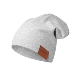 czapka podwójna szara