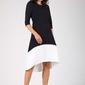 Asymetryczna sukienka midi czarno-biała