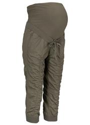 Spodnie ciążowe 34 bonprix ciemnooliwkowy