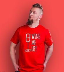 Wine me up t-shirt męski czerwony xl