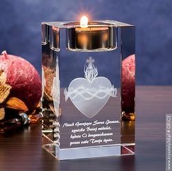 Gorejące serce 3d • personalizowany świecznik 3d • pamiątka religijna
