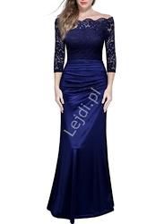 Długa sukienka hiszpanka niebieska