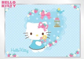 Fototapeta na flizelinie hello kitty niebieskie serduszko l