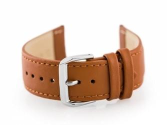 Pasek skórzany do zegarka w30 - w pudełku - camel - 24mm