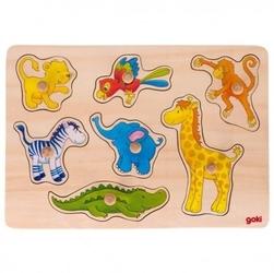 Puzzle akwarelowe z uchwytami zoo