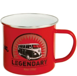 Kubek emaliowany z uchem VW T1 Legendary czerwony BR-BUTA15