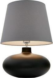 Lampa stołowa sawa nietransparentna podstawa szary abażur