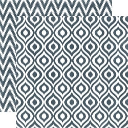 Papier 30,5x30,5 cm Style EssentialGraphite Ikat - 04