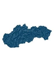 Mapa hydrologiczna słowacji