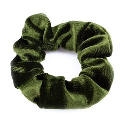 Gumka do włosów scrunchies frotka welur zielona