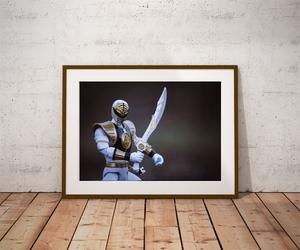 Power rangers white ver4 - plakat wymiar do wyboru: 70x50 cm