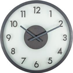 Zegar na ścianę Frosted Wood Nextime szary 3205 GS