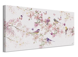 Birds and blossom - obraz na płótnie