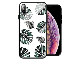 Etui alogy glass armor case do apple iphone xxs liście - liście