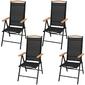 Zestaw ogrodowy stół + 4 krzesła moran ii czarny