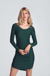Casualowa sukienka o dopasowanym kroju - zielona