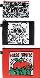 Saszetki Zip Pockets Keith Haring 3 szt.