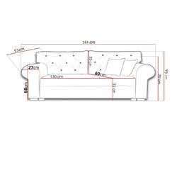 Sofa mangusta m pikowana glamour